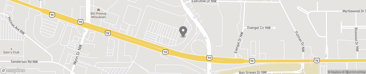Map of 4710 University Drive NW Bld in Huntsville