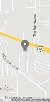 Map of 4929 University Dr in Huntsville