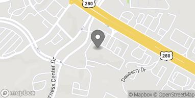 Map of 4700 Highway 280 East in Birmingham