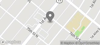 Map of 7529 1st Ave. N in Birmingham