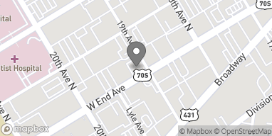 Map of 1900 West End Ave in Nashville