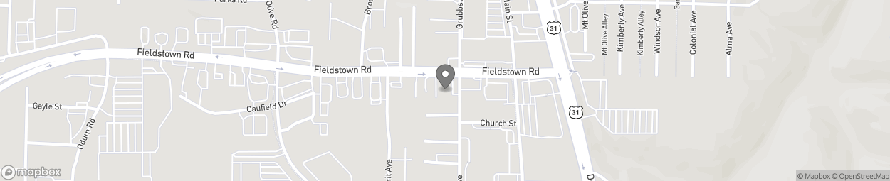Map of 301 Fieldstown Road in Gardendale