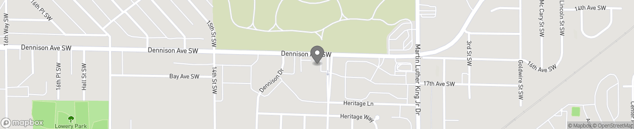 Map of 901 Dennison Ave SW in Birmingham