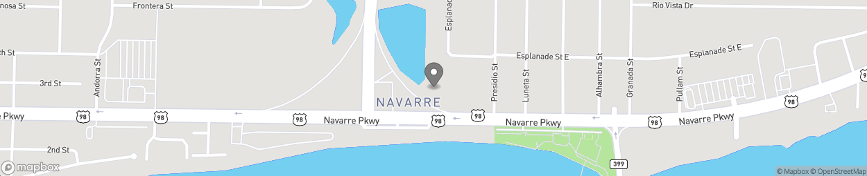 Map of 1750 Highway 87 South in Navarre