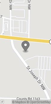 Map of 1950 Street Joseph Drive Northwest in Cullman