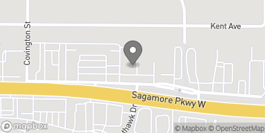 Map of 404 Sagamore Pkwy W in West Lafayette