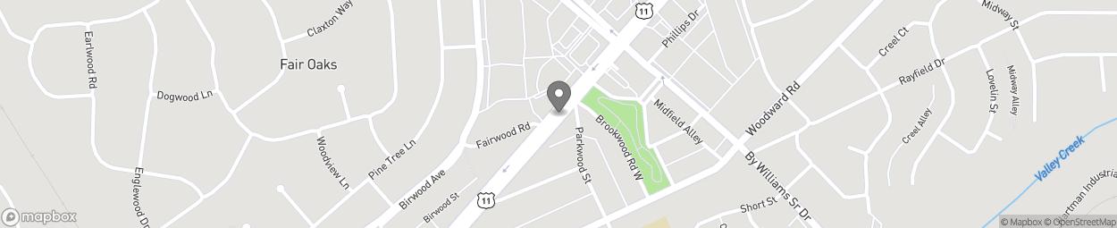 Map of 169 Bessemer Super Highway in Midfield