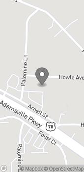 Mapa de 2471 Palomino Lane en Birmingham