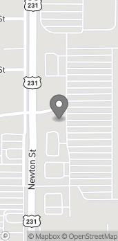 Mapa de 3962 N Newton St en Jasper