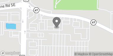 Mapa de 1217 Point Mallard Pkwy SE en Decatur