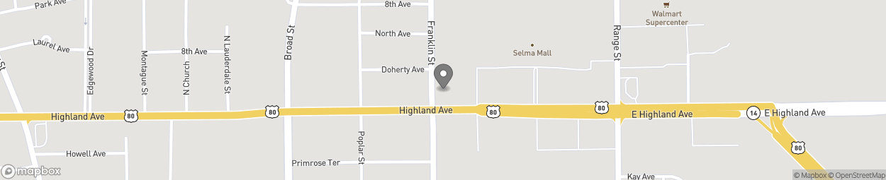Map of 1301 Highland Ave in Selma