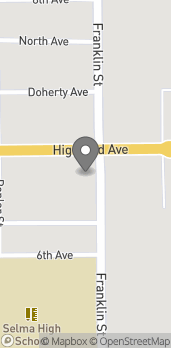 Map of 1220 E. Highland Ave in Selma