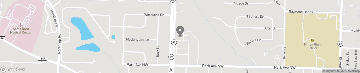Map of 5450 Dogwood Dr in Milton