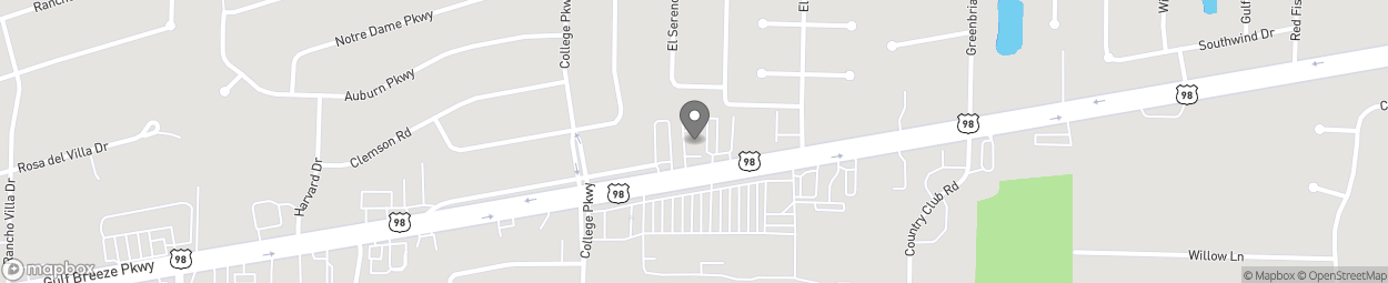 Map of 3324 Gulf Breeze Parkway in Gulf Breeze