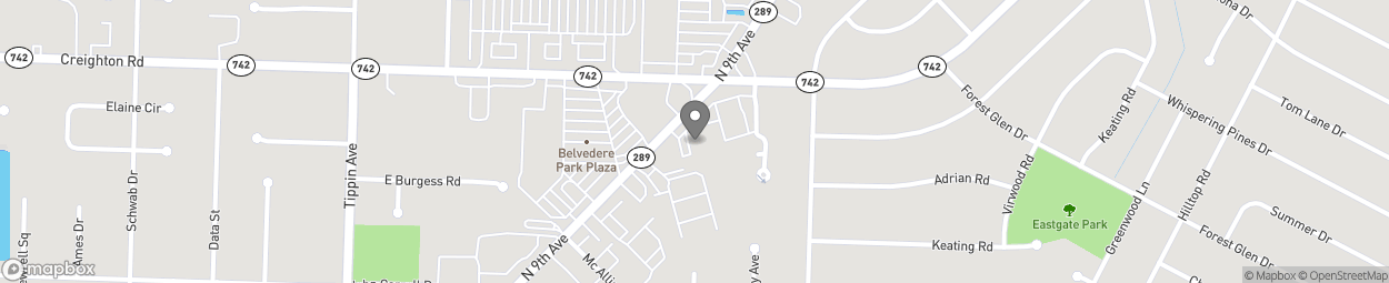 Map of 6886 N 9th Ave in Pensacola
