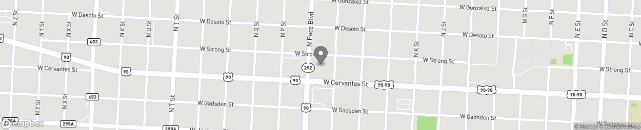 Map of 810 N Pace Blvd in Pensacola