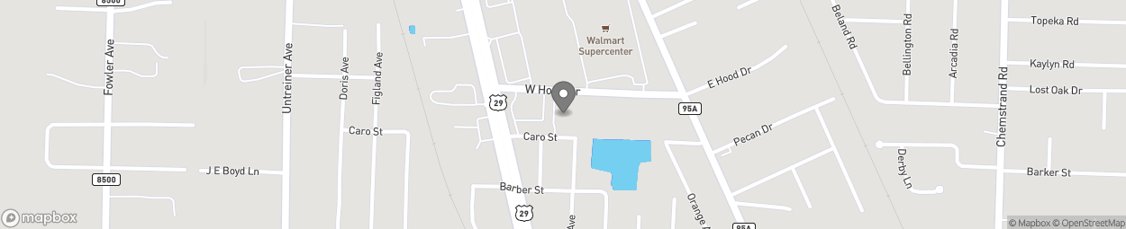 Map of 155 West Hood Drive in Pensacola