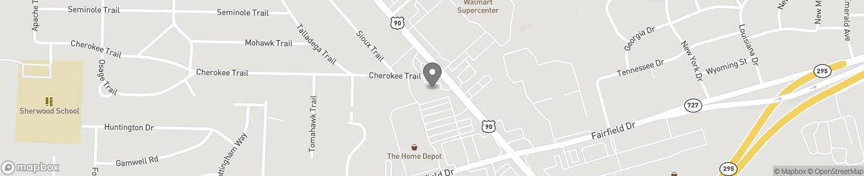 Map of 4551 Mobile Hwy in Pensacola