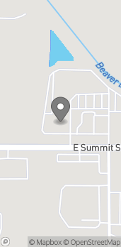 Map of 1612 E Summit St in Crown Point