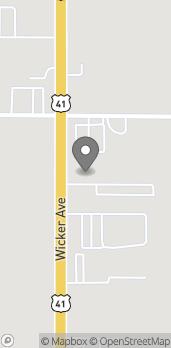 Map of 12937 Wicker Ave in Cedar Lake