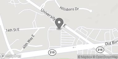 Map of 4217 E University Blvd in Tuscaloosa