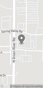 Mapa de 3231 N Green River Rd en Evansville