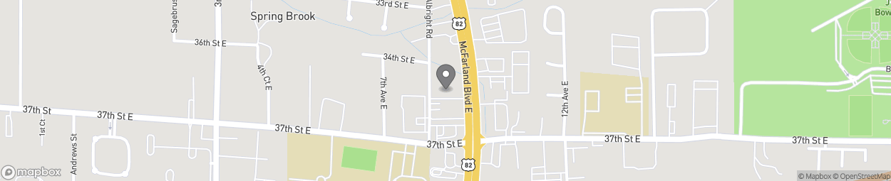 Map of 3504 McFarland Blvd East in Tuscaloosa