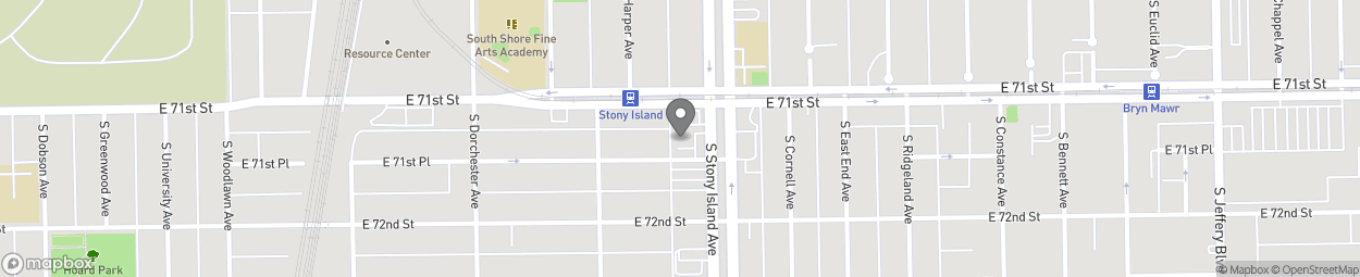 Map of 7118 South Stony Island Aven in Chicago