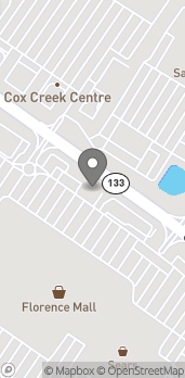 Map of 349 Cox Creek Pkwy in Florence
