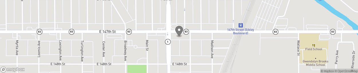 Map of 272 E 147th St in Harvey