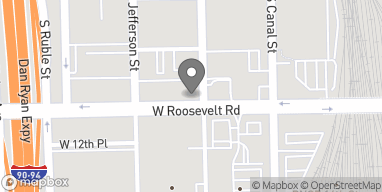Map of 542 W Roosevelt in Chicago