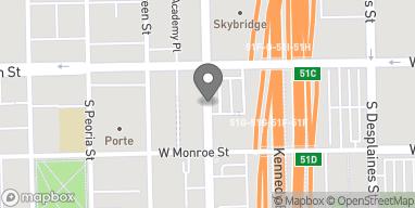 Mapa de 15 S Halsted St en Chicago