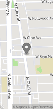 Mapa de 5601 North Clark Street en Chicago