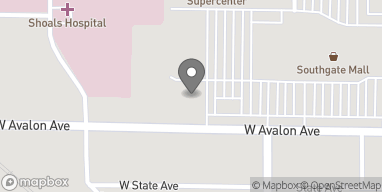 Map of 233 Avalon Ave in Muscle Shoals