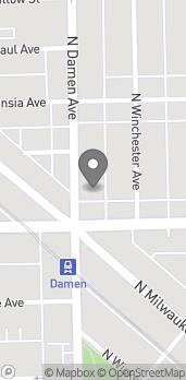 Map of 1617 N. Damen Avenue in Chicago