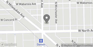 Map of 1617 N. Damen Avenue in Chicago