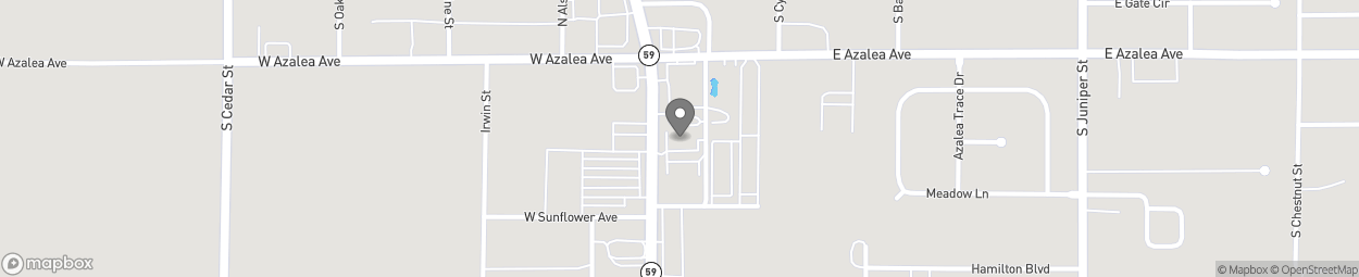 Map of 725 S McKenzie St in Foley