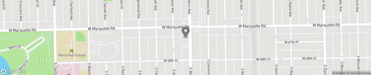 Map of 6714 South Western Avenue in Chicago