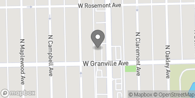 Map of 6210 N Western Ave in Chicago