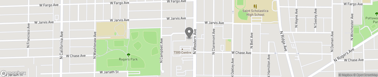 Map of 7324 N Western Ave in Chicago