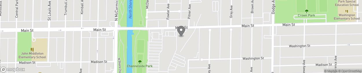 Map of 2310-2312 Main Street in Evanston