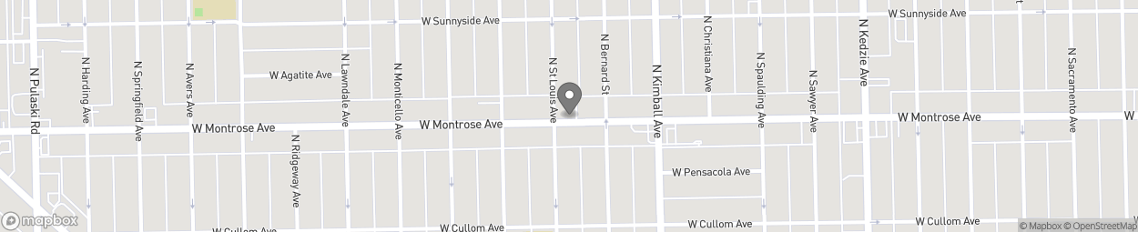Map of 3452 W Montrose Ave in Chicago