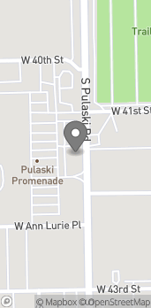 Map of 4110 South Pulaski Rd in Chicago