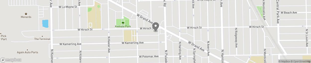 Map of 4015 W Hirsch St in Chicago