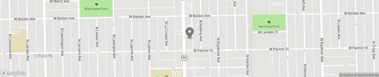 Map of 2223 North Cicero Avenue in Chicago