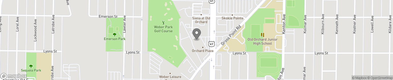 Map of 9320 Skokie Blvd in Skokie