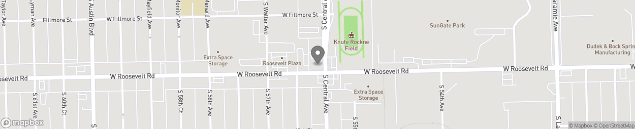Map of 5622 West Roosevelt in Chicago