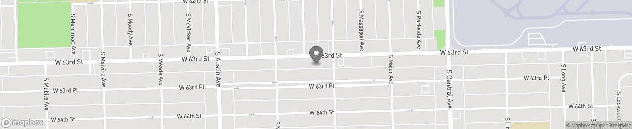 Carte de 5815-19 West 63rd Street à Chicago