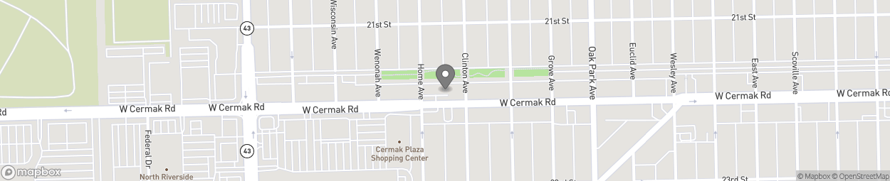Map of 6932 W Cermak Road in Berwyn