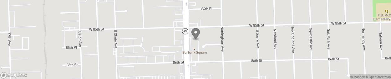 Map of 8505 S Harlem Ave in Burbank